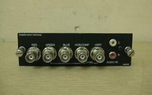 Electrohome Christie RGB500 RGB-500 RGB BNC Marquee DLP Projector Input Module