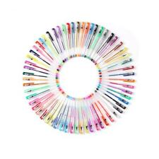 60 Gel Pen Set Coloring Book Deluxe Art Color Glitter 60% More Ink Painting