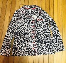 Soma Embraceable M Animal Print NWT Pajama Top Lounge Cotton Knit