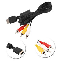 TV RCA AV Audio/Video Cable Cord Composite For Sony PlayStaion PS2/PS3