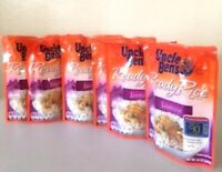 6 Lot Uncle Bens Ready Jasmine Rice 6 Pack 8.5 Oz Each