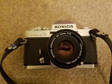 Konica Autoreflex T3 35mm film Camera with Hexanon 50mm lens f1.8 and case