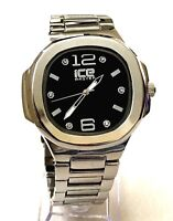 Mens Fashion Watch Ice Master BM1312 Silver Metall Band Water Resistant 1 ATM