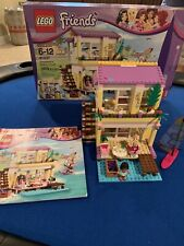 Lego Friends Stephanie's Beach House #41037 Complete 2012 Girls Wind Surfing