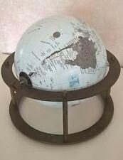 Eagle Revolving World Globe Map on Brass Base 20cm 2008