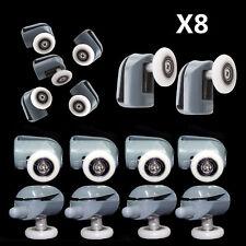 Set of 8 Single Shower Door Rollers/Runners/Wheels/Pulleys 23mm wheel Dia