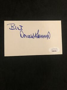 "Donald Trump Signed Index Card vintage 1980s HIGH GRADE JSA LOA grade""9"" Prez"