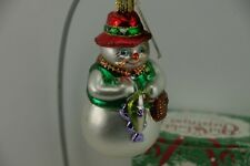 Merck Family's Old World Christmas Germany Fisherman Snowman Ornament with Box
