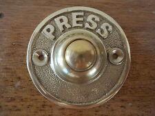 """""""campana de latón estilo Victoriano Push"""" Puerta Timbre Perillas Aldaba maneja placas"""