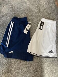 Adidas Shorts - Ladies Women's - New - Blue - White - Size 14 - 2 Pairs - BNWT