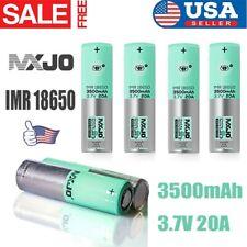 1/2/4pcs 3500mAh MXJO 18650 3.7V 20A Flat Top High Drain Rechargeable Battery