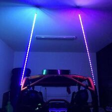 6 foot tall RGB buggy ATV Whip LED 1000s of colors W/Remote RZR light boat LED