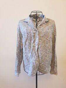 T-298 Viyella Size 16 Blue Mix Pattern Shirt