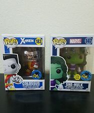 2016 Funko Pop Comikaze Exclusives She Hulk and Colossus FREE SHIPPING!!!