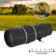 Monocular 16x52 Optics Zoom Lens Camping Hiking Hunting Telescope Scope Outdoor