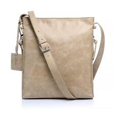 New Lusso Genuine Italian Leather Handbag - Stylish Light Tan Satchel