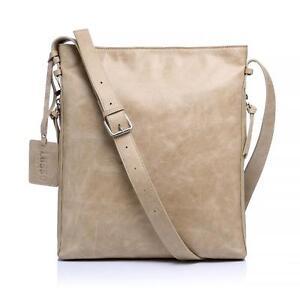 New Lusso Genuine Italian Leather Handbag - Stylish Light Tan Satchel