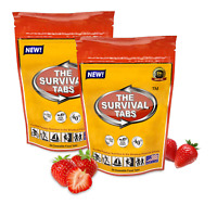 Premium emergency food 4-days survival tablets 48 Tabs (Strawberry)