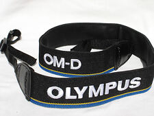 "OLYMPUS OM-D E-M1 Camera strap Black / Blue / White/ Yellow 1 1/2"" wide  #00209"