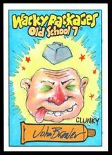 2018 TOPPS WACKY PACKAGES OLD SCHOOL 7 CLUNKY JOHN BREWER FULL COLOR SKETCH 1/1
