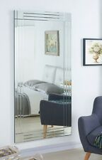 Wall Mirror Large Silver Triple Bevelled Frame Full Length 5ft7 X 2ft8 174x85cm