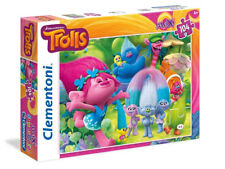 Puzzle Clementoni per bambini Trolls Maxi Super Color Dream Works 104pz 4+