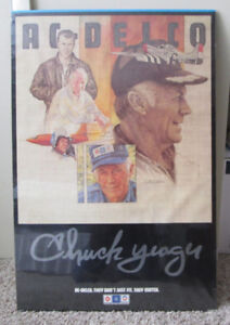 VINTAGE POSTER COLONEL CHUCK YEAGER FOR AC DELCO AUTO PARTS MAN CAVE RARE