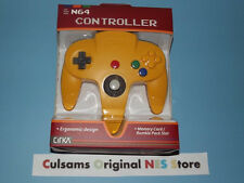 NEW NINTENDO 64 N64 (SOLID-YELLOW) CONTROLLER WITH A 30 DAY GUARANTEE