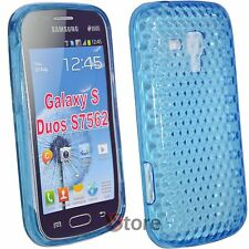 Cover for SAMSUNG Galaxy S Duos S7562 Blue Gel TPU + Film