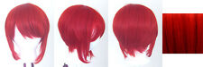 12'' Bob Cut Scarlet Red Synthetic Cosplay Wig NEW