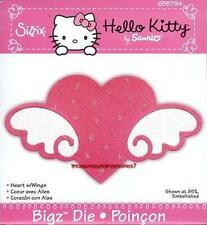 Sizzix  Bigz HELLO KITTY HEART W/ WINGS 655794 New