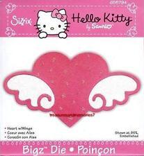 Sizzix  Bigz HELLO KITTY HEART W/ WINGS 655794 New