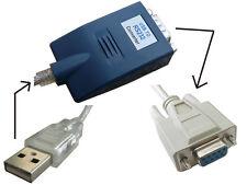Convertidor USB a RS-232 + CORDÓN NULL MODEM