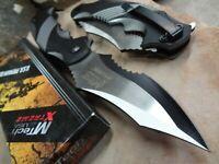 MTECH XTREME Ballistic Black Grey ASSISTED Tactical Flipper Pocket Knife