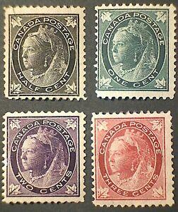 Canada Scott #66-69 QV Maple Leaf issue Mint low values set
