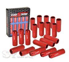 20X M12X1.25Mm Thread Extended Closed End Wheel Rim Racing Lug Nut Jdm [Red]
