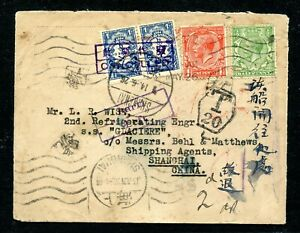 Postage Due cover from UK to China