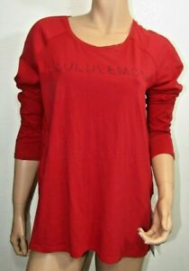 Lululemon  Emerald Long Sleeve Super-Soft Tshirt Red Size 8 NWT
