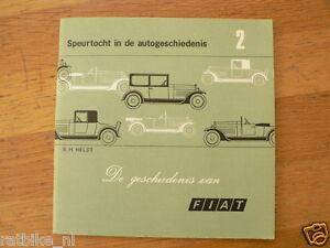 HISTORY OF FIAT 1899-1970 ,128,850,600,1100,632N,1500,501, AUTO,CAR,TRUCK