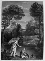 DOMENICHINO: TOBIAS UND DER ENGEL TOBIT. AND THE ANGEL. TOBIOLO E L'ANGELO TOBIE
