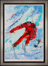 Mark King Large Color Serigraph Downhill Snow Skiing Original Signed Artwork SBO