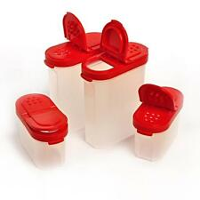 TUPPERWARE spice shakers - Set of 4 Shakers - 2 Large / 2 Small