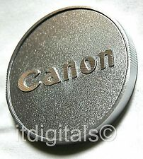 For Canon 58mm Metal Screw-in Front Lens Cap Cover Custom Hand Made Silver EOS