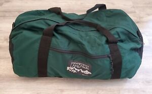 Vintage Jansport Large Duffle Bag USA Made 90s Canvas Carry On Camping