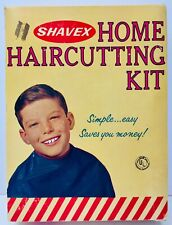 Shavex Home Haircutting Kit Vintage Box Complete 1960's Barber Shop Memorabilia