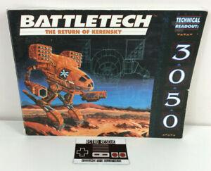 Battletech The Return of Kerensky Technical Readout 3050 FASA MechWarrior RPG