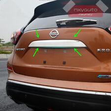 Trunk Rear Door Lid Chrome Bezel Trim For Nissan Murano 2015 2016 2017 2018 (Fits: Nissan)