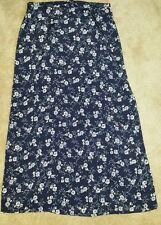 Vintage Tracy Evans Dark Blue Floral Long Skirt》Size 11