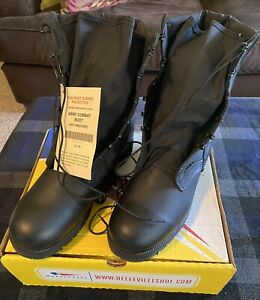 NIB, Belleville Men's Black Hot Weather Combat Boot Made in USA, Sz 12