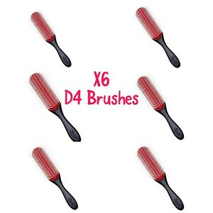 Denman D4 Hair Styling Brush 9 ROWS Ideal for Long Hair X6 Pack